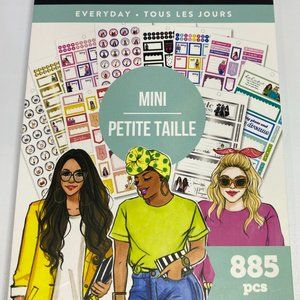 NWT The Happy Planner Everyday Mini 885 Pieces